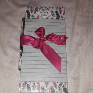 Note pad ad pen. Bundle only